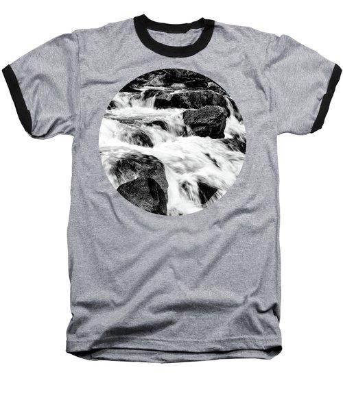 Flow, Black And White Baseball T-Shirt
