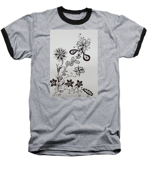 Flower 8 Baseball T-Shirt