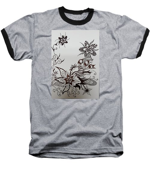 Flower 9 Baseball T-Shirt