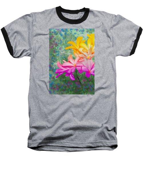 God Made Art In Flowers Baseball T-Shirt by Manjot Singh Sachdeva