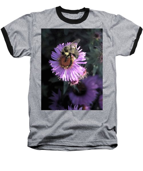 Flower And Bee Baseball T-Shirt