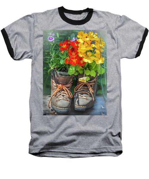 Flower Boots Baseball T-Shirt