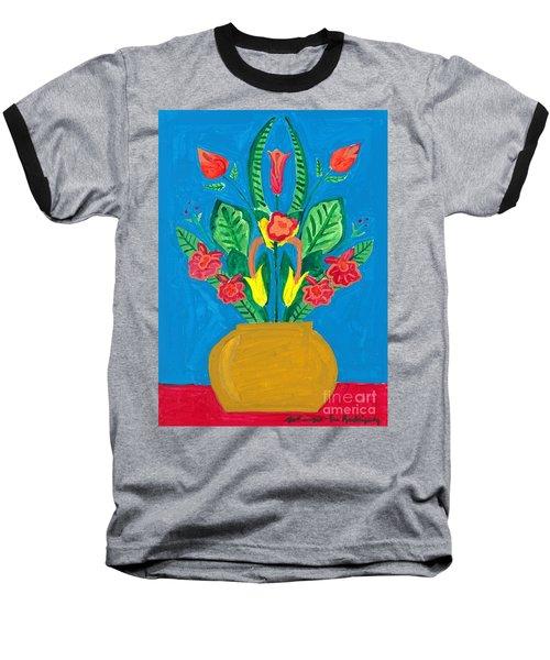 Flower Bowl Baseball T-Shirt by Margie-Lee Rodriguez