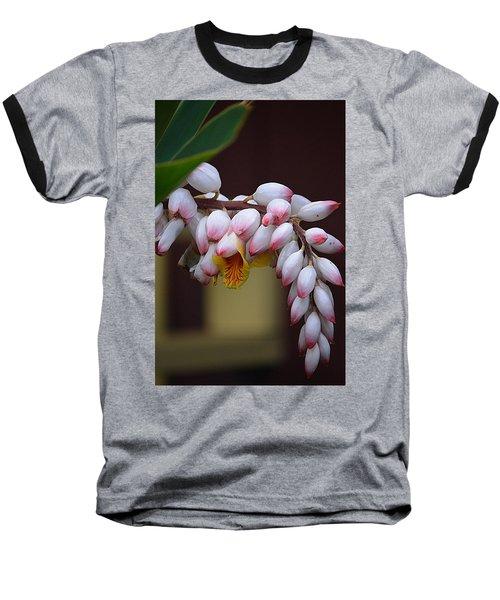 Flower Buds Baseball T-Shirt by Lori Seaman