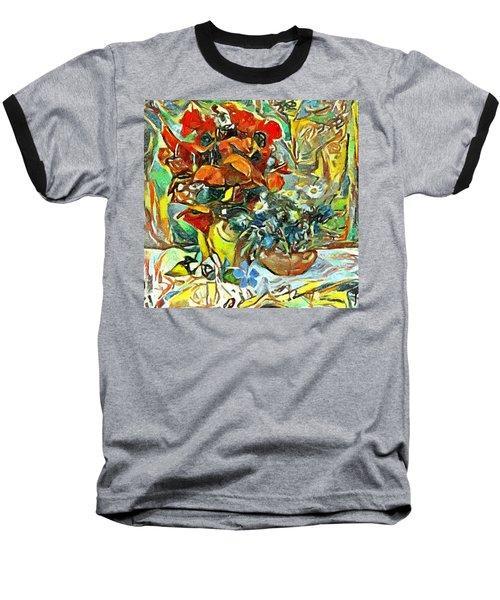 Flower Burst Baseball T-Shirt