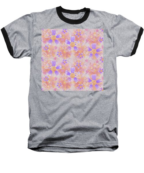 Flower Clown Pattern Baseball T-Shirt