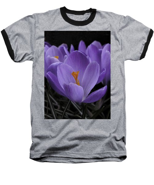 Baseball T-Shirt featuring the photograph Flower Crocus by Nancy Griswold