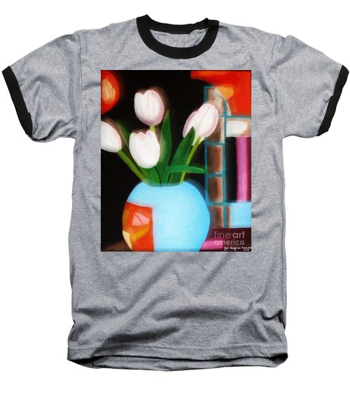 Flower Decor Baseball T-Shirt