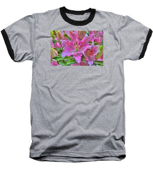 Flower Delight Baseball T-Shirt