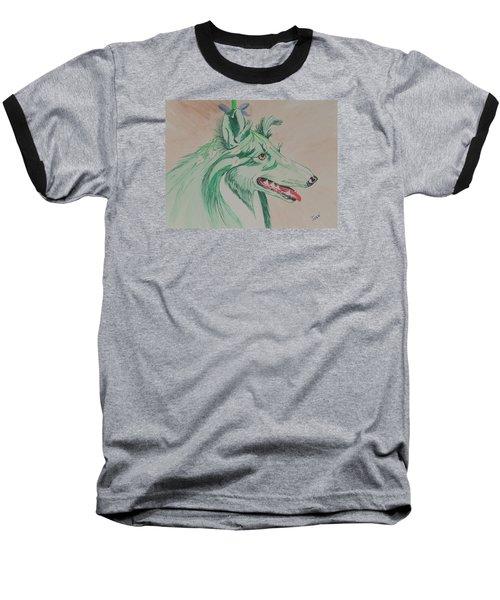 Flower Dog # 11 Baseball T-Shirt by Hilda and Jose Garrancho