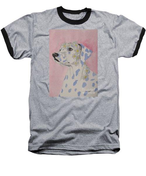 Flower Dog 2 Baseball T-Shirt
