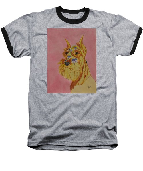 Flower Dog 9 Baseball T-Shirt