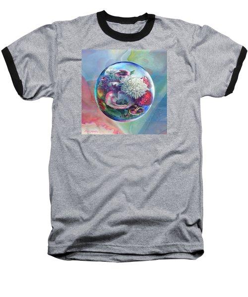 Flower Drop Blues Baseball T-Shirt