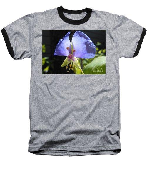 Flower Face Baseball T-Shirt by Felipe Adan Lerma