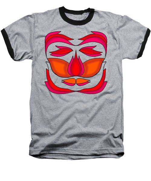 Flower Face Baseball T-Shirt
