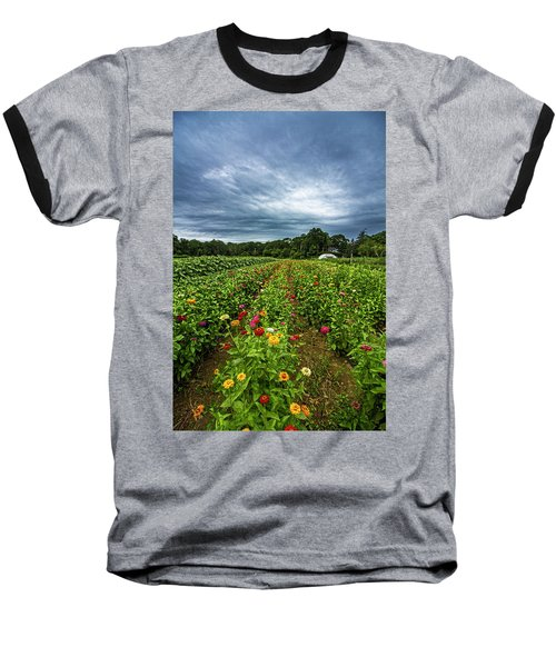Flower Field At North Sea Farms Baseball T-Shirt