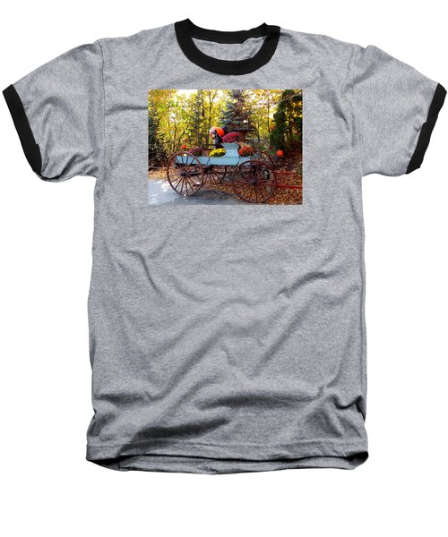 Flower Filled Wagon Baseball T-Shirt by Catherine Gagne