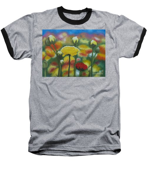 Flower Focus Baseball T-Shirt