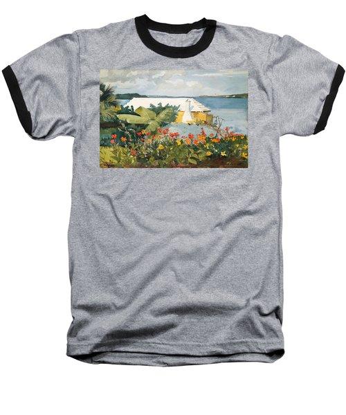 Flower Garden And Bungalow Baseball T-Shirt