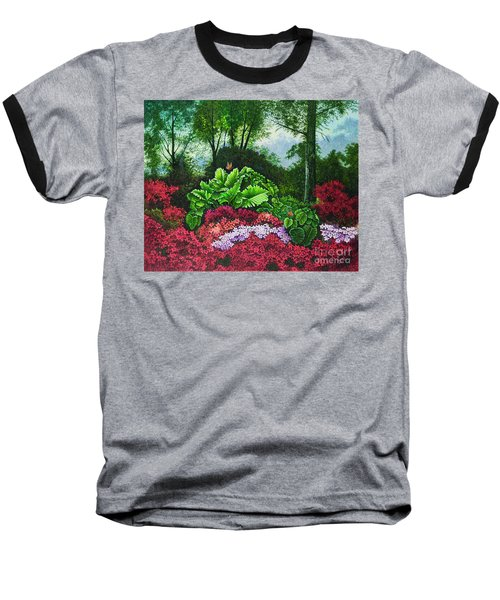 Flower Garden X Baseball T-Shirt by Michael Frank