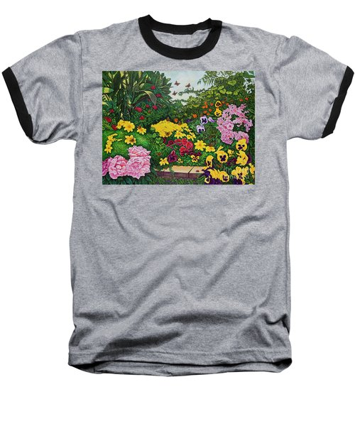 Flower Garden Xii Baseball T-Shirt by Michael Frank