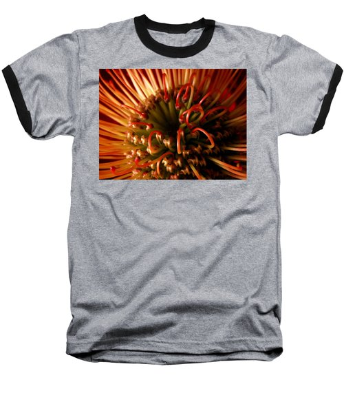 Baseball T-Shirt featuring the photograph Flower Hawaiian Protea by Nancy Griswold