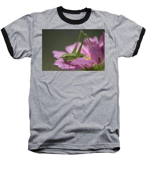 Flower Hopper Baseball T-Shirt by Michael Eingle