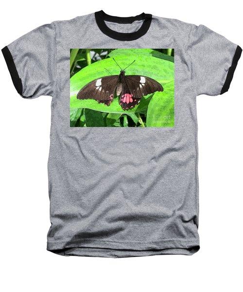 Flower Imprint On Wing Baseball T-Shirt