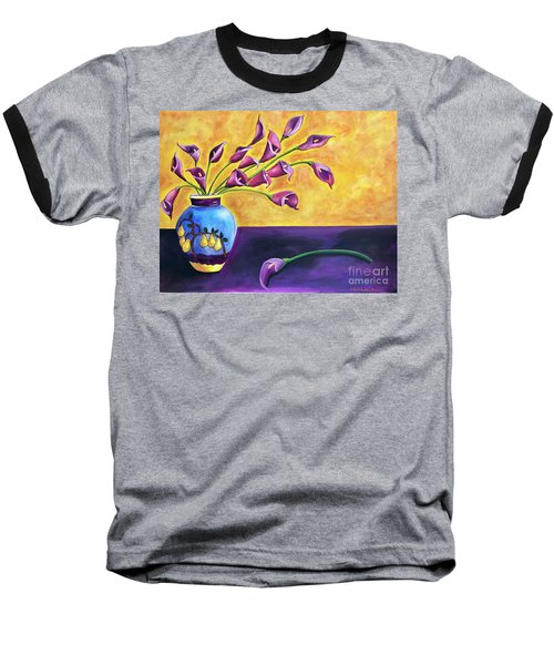 Flowers In Blue Vase Baseball T-Shirt