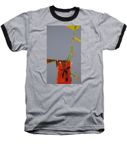 Flower In Pitcher- Abstract Of Course Baseball T-Shirt by Cliff Spohn