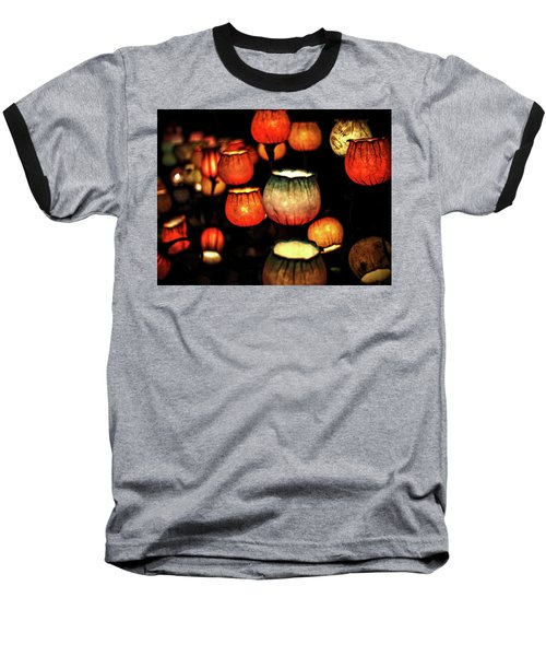 Flower Lamps Baseball T-Shirt by Carol Crisafi