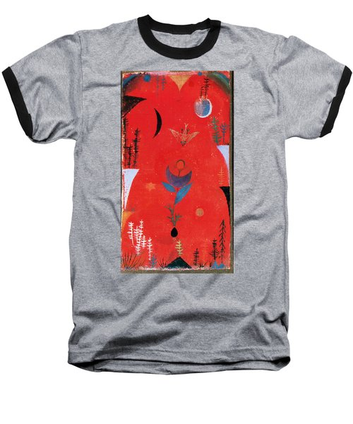 Flower Myth Baseball T-Shirt by Paul Klee