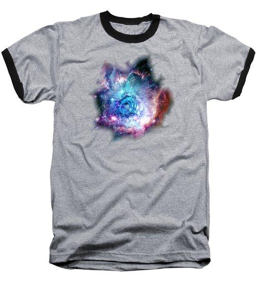 Flower Nebula Baseball T-Shirt by Anastasiya Malakhova