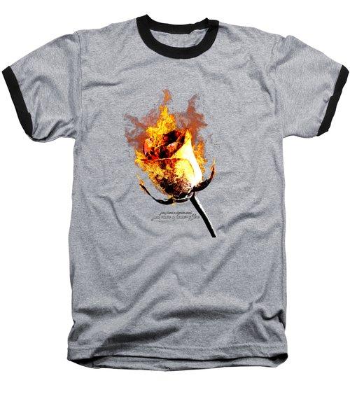 Flower Of Fire Baseball T-Shirt