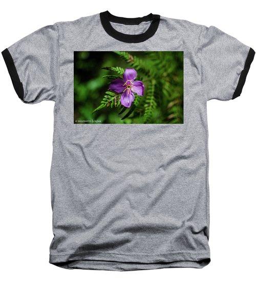 Flower On The Fern Baseball T-Shirt by Stefanie Silva