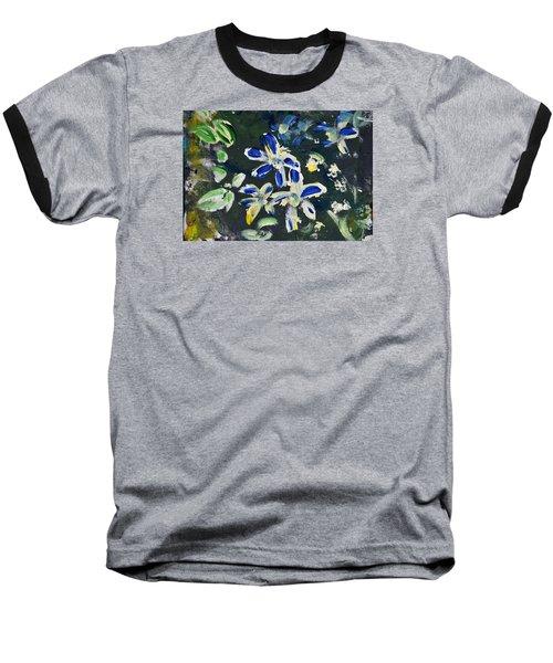 Flower Play Baseball T-Shirt