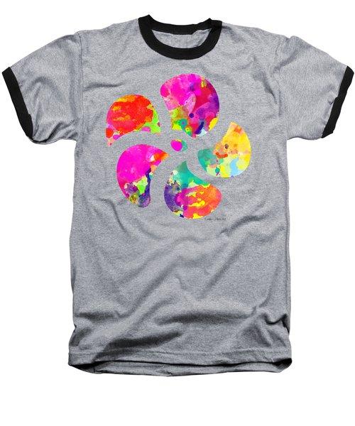 Flower Power 1 - Tee Shirt Design Baseball T-Shirt by Debbie Portwood