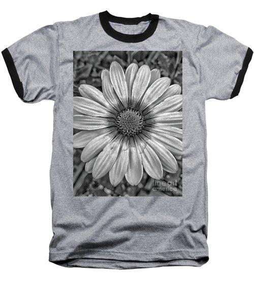 Flower Power - Bw Baseball T-Shirt