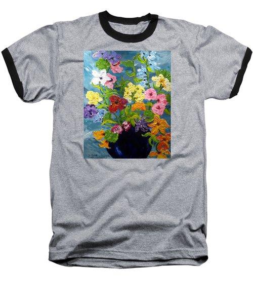Flower Power Baseball T-Shirt by Diane Arlitt