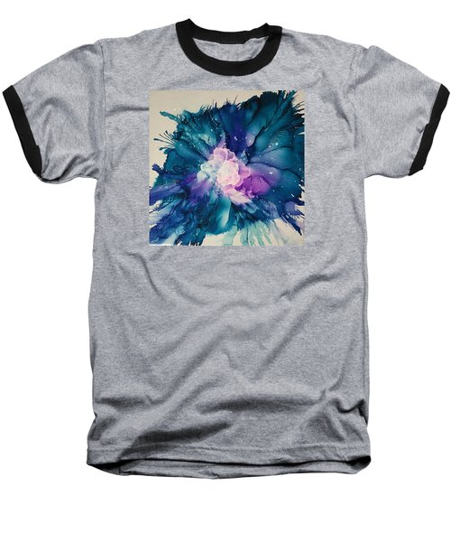 Baseball T-Shirt featuring the painting Flower Power by Suzanne Canner