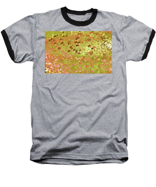 Flower Praise Baseball T-Shirt by Linde Townsend