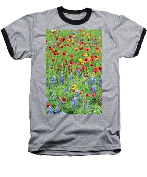 Flower Quilt Baseball T-Shirt