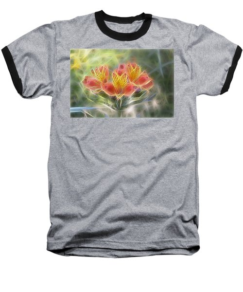 Flower Streaks Baseball T-Shirt