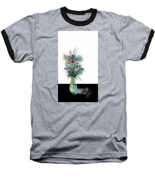 Baseball T-Shirt featuring the digital art Flower Study One by Darren Cannell