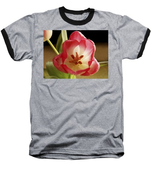 Baseball T-Shirt featuring the photograph Flower Tulip by Nancy Griswold