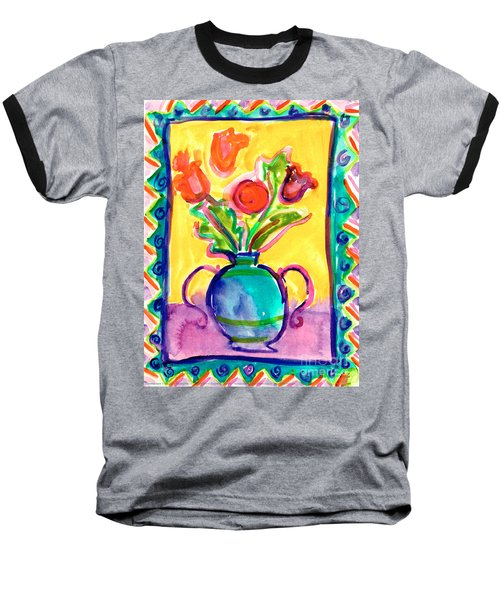 Flower Vase Baseball T-Shirt