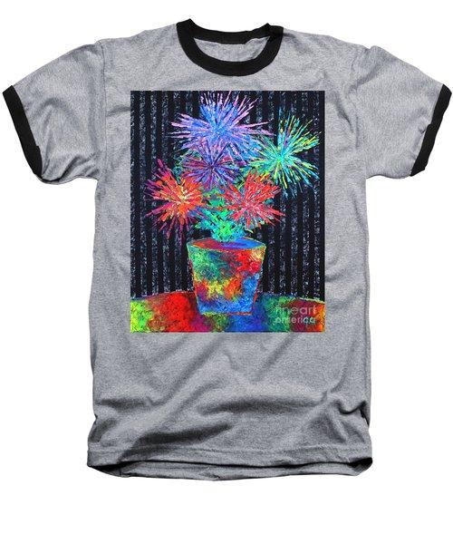 Flower-works Plant Baseball T-Shirt by Jeremy Aiyadurai