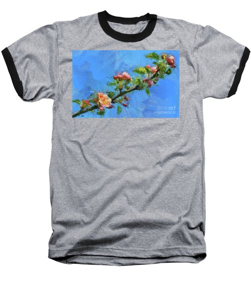 Flowering Apple Branch Baseball T-Shirt by Dragica Micki Fortuna