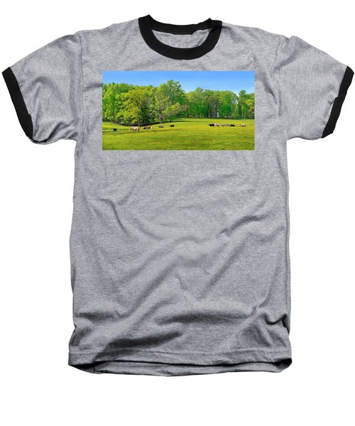 Flowering Cow Pasture Baseball T-Shirt
