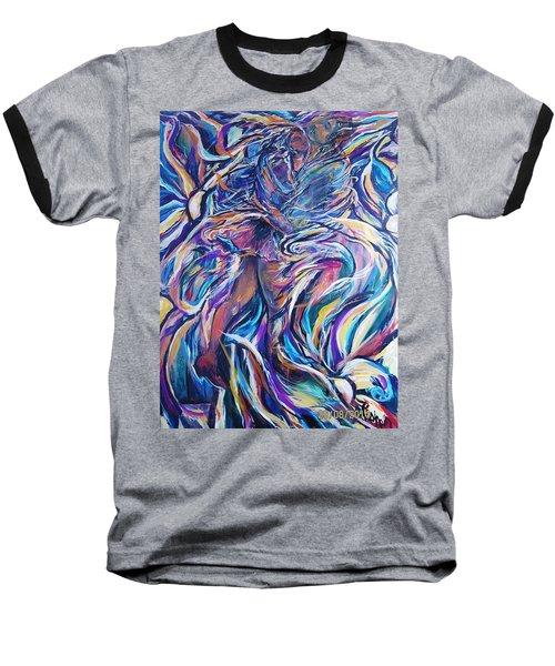 Flowering Baseball T-Shirt by Dawn Fisher